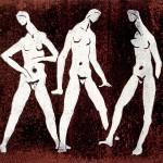 D-007: Drei Frauen, 1977, 49,8x57,2cm, Lithografie