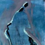 M-225: Komposition Grün-Schwarz, 1970, 70x55cm, Öl auf Leinwand