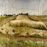 M-022: Landschaft bei Stralsund, 1949, 50x60cm, Öl auf Leinwand