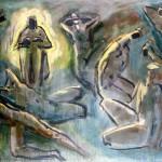 M-272: Der Glaube an die Auferstehung, 1980, 100x150cm, Öl auf Leinwand