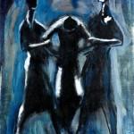 M-366: Drei Menschen, 1978, 98x80cm, Öl auf Leinwand