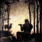 M-004: Flötenspieler, 1932, 63x45cm, Öl auf Leinwand