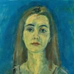 M-584: Portrait Regina Grund, 1983, 60x50,5cm, Öl auf Leinwand