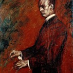 M-005: Wilhelm Furtwängler, 1932, 100x80cm, Öl auf Leinwand
