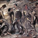 M-091: Moorsoldaten, 1954, 39,5x56,5cm, Öl auf Leinwand