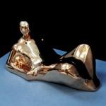 S-033: Kleine Liegende, 1971, H25xL45xT23cm, Bronze hochpoliert