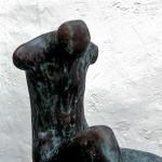 S-040:. Sitzender Torso, 1973, H58xB27xT32cm, Bronze