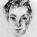 Z-069: Portraitskizze Walter Ramas, 1973, 63x48cm, Kohle auf Ingrespapier